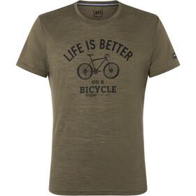 super.natural Better Bike Tee Men, olijf